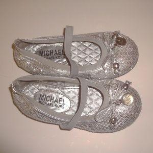 Michael Michael Kors Flats Silver Sequin